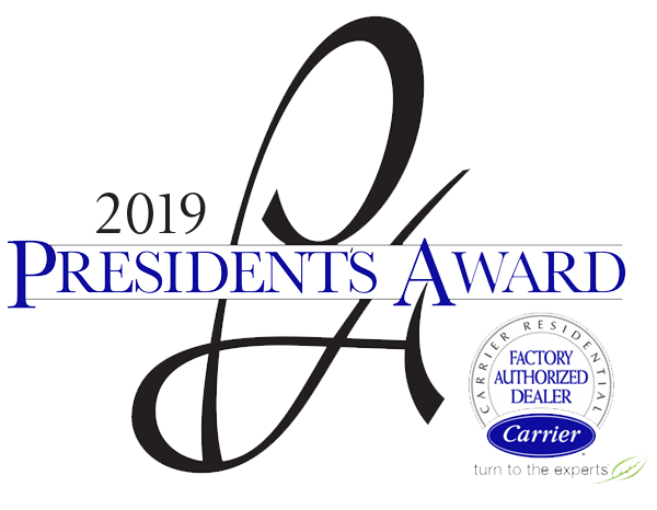 Dale's Heating & Air, Inc. won the 2018 Presidents Award from Carrier with our excellent Furnace repair service in Ooltewah TN.